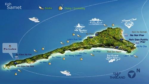 карта острова самет