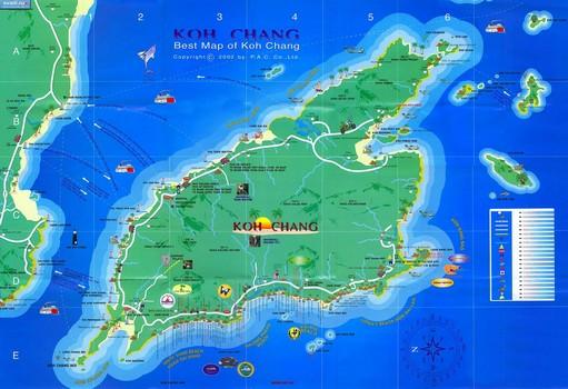 Остров Ко Чанг на карте